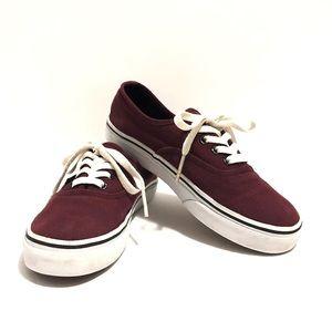 Vans burgundy kids shoe